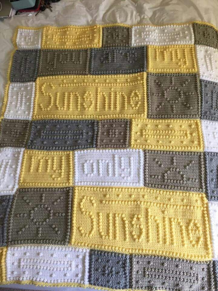 You Are My Sunshine Blanket Bobble Crochet Bobble