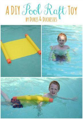 a DIY pool raft toy