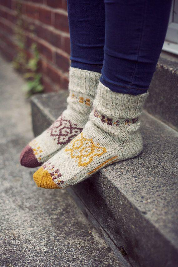 Hand-Knit Autumn Socks