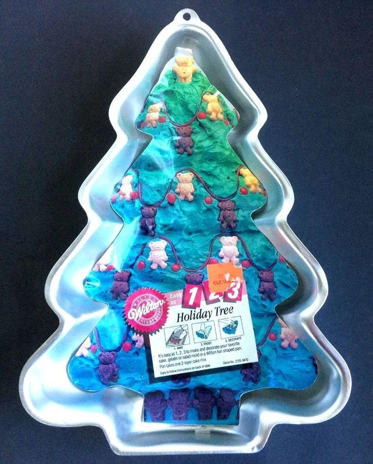 Christmas Cake Ideas Wilton : Wilton Cake Pan Holiday Tree Christmas Step by Step 2105 ...