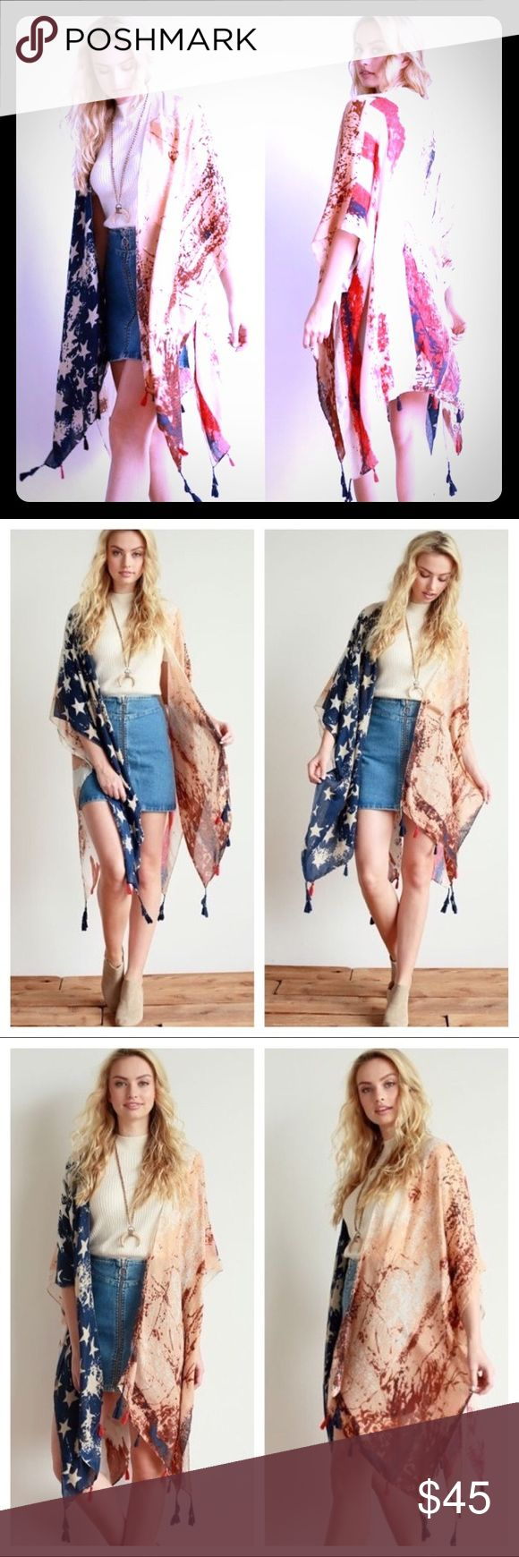 American Flag Kimono Large American Flag Kimono, just in time for Memorial Day weekend and July 4th! Wear with pride! Other