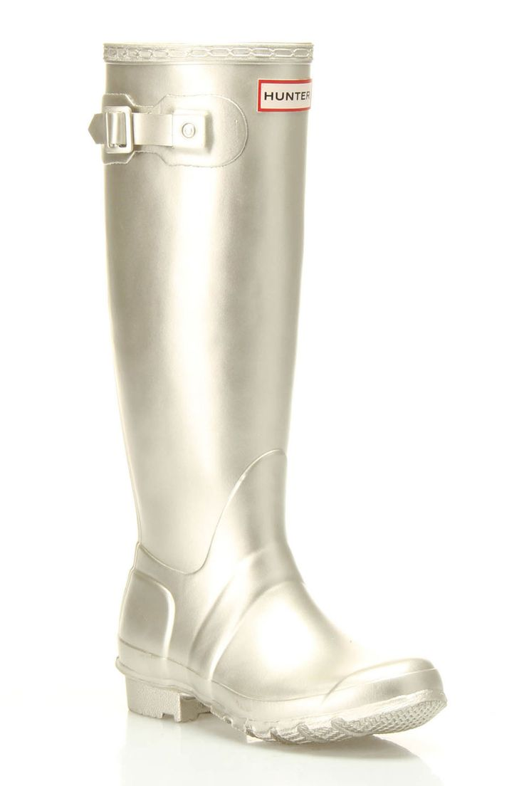 Hunter Original Metallic Rain Boots for the wet weather ahead!