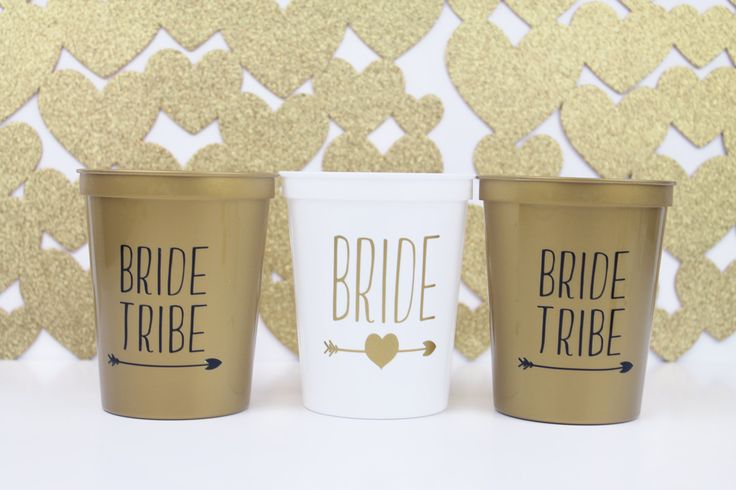 Bachelorette Party - Bride Tribe - Bridesmaid Gift - Bachelorette - Party Cups - Party Favors - Cups - Bridal Party Gifts - Wedding Shower