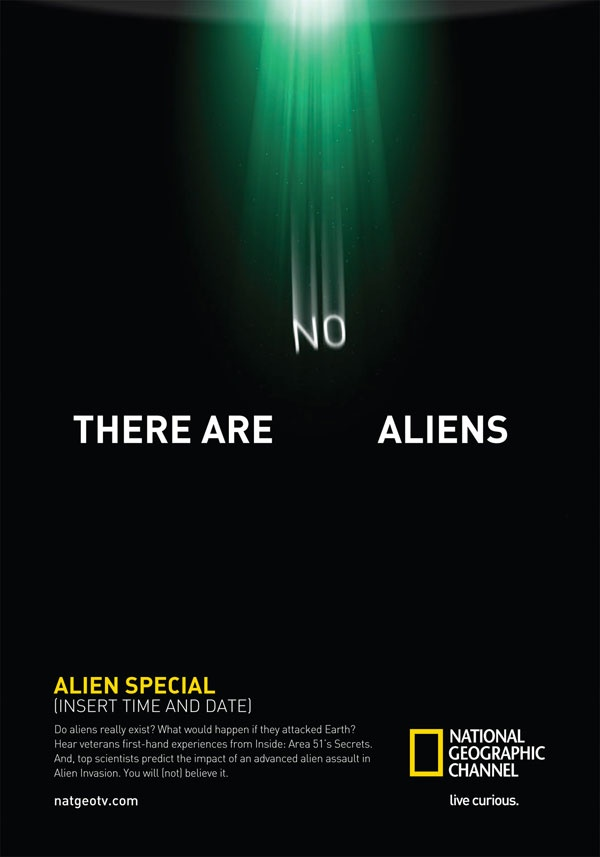 "There are ""no"" aliens"