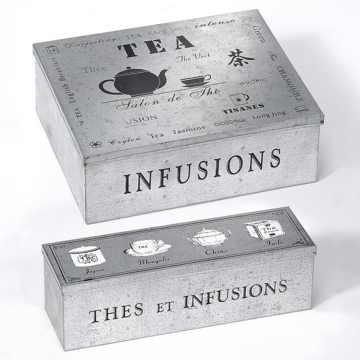 Set of 2 Tea Boxes