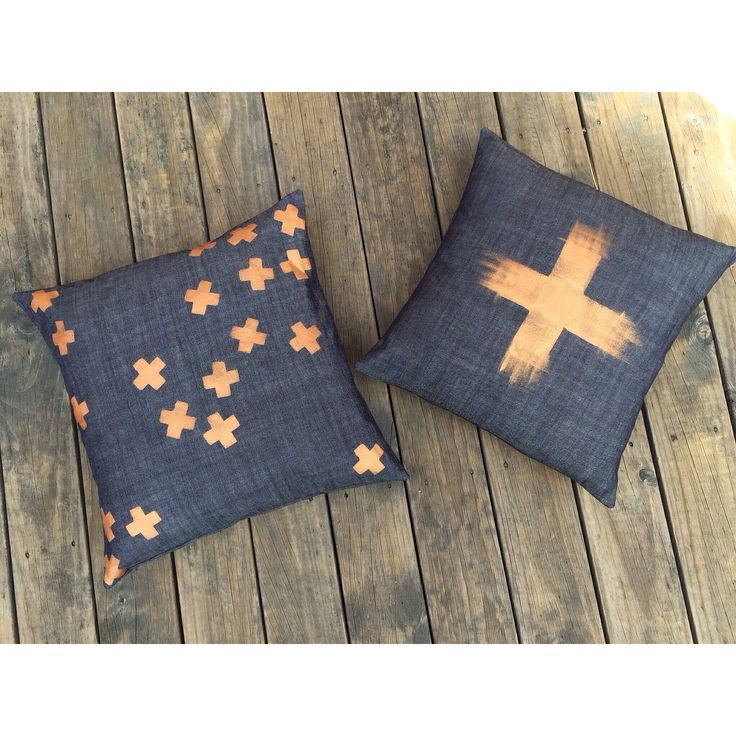 NEW!! My ➕one industrial 'tumbling confetti -plus' + 'copper-frayed plus' cushions hand-painted onto a deep indigo coloured cotton.  individually hand-painted + handmade using eco friendly water based metallic fabric paints: Claire Webber, Hobart, Tasmania For more info. webberclaire1@gmail.com