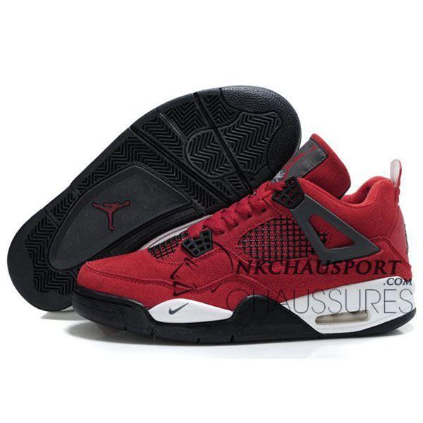 nike air jordan 4 classique chaussure de basket homme rouge 4