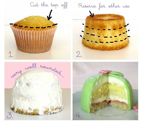 princess cake cupcakes!!!