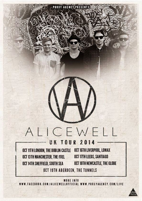 Alicewell announce UK tour for October 2014