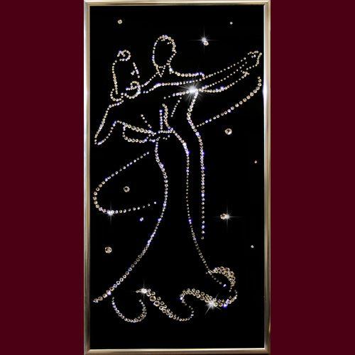 Свадебные картины на свадьбу, картины молодоженам, картина танец, голуби с кристаллами Сваровски - Страница 2
