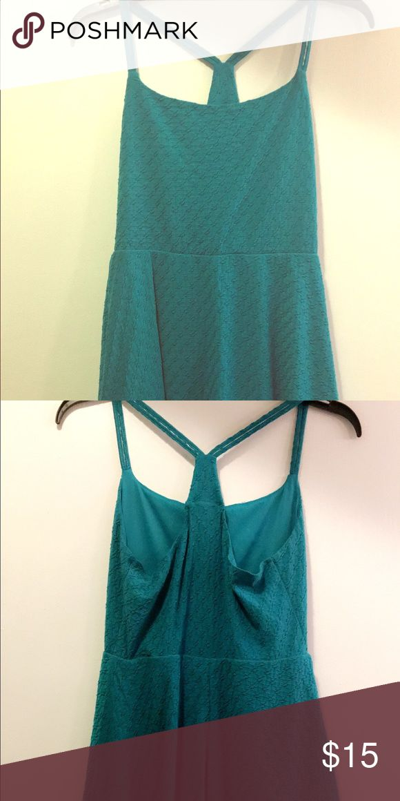 Teal dress Cute strapping dress. This is petite size so it was pretty short on me. It's a nice stretchy material and great for a casual night out. Mossimo Supply Co Dresses Midi