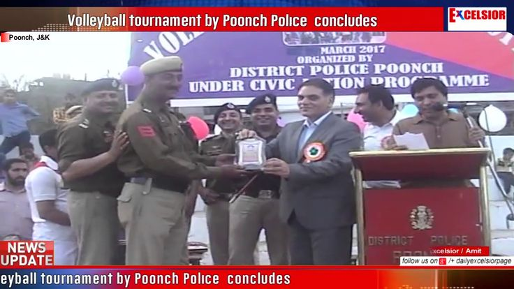 Volleyball tournament by Poonch Police  concludes