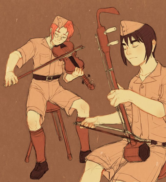 """Belated Canada and Handover Day image. For historical context, look up 'Battle of Hong Kong', preferably not when you're in high spirits. The instrument in the foreground is the gorgeous erhu."""