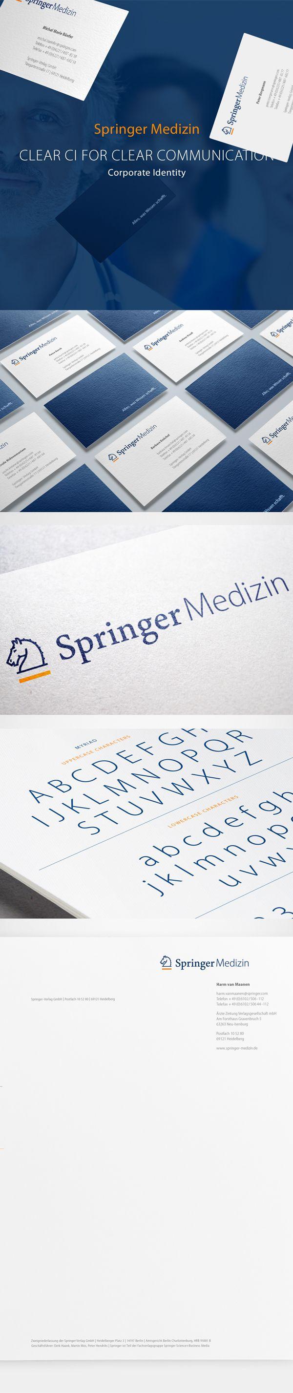 Springer Medizin Corporate Identity on Behance