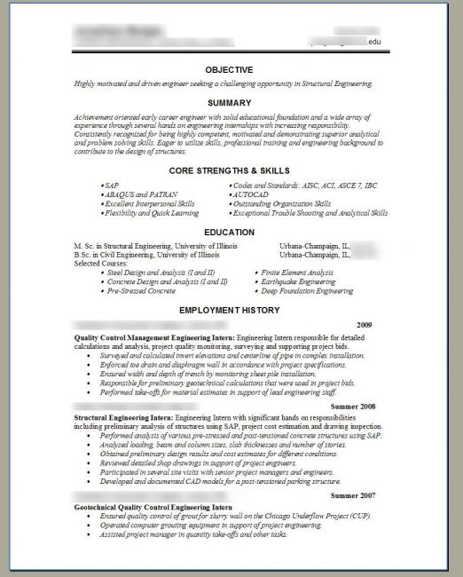 structural engineer resume resume template pinterest