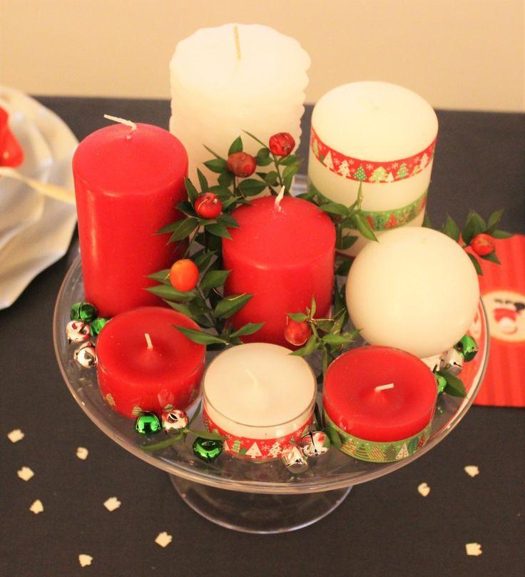 centrotavola candele rosso