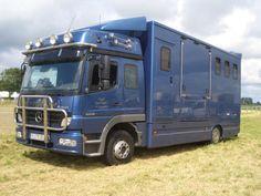 Blue Atego horsebox - W. Behn