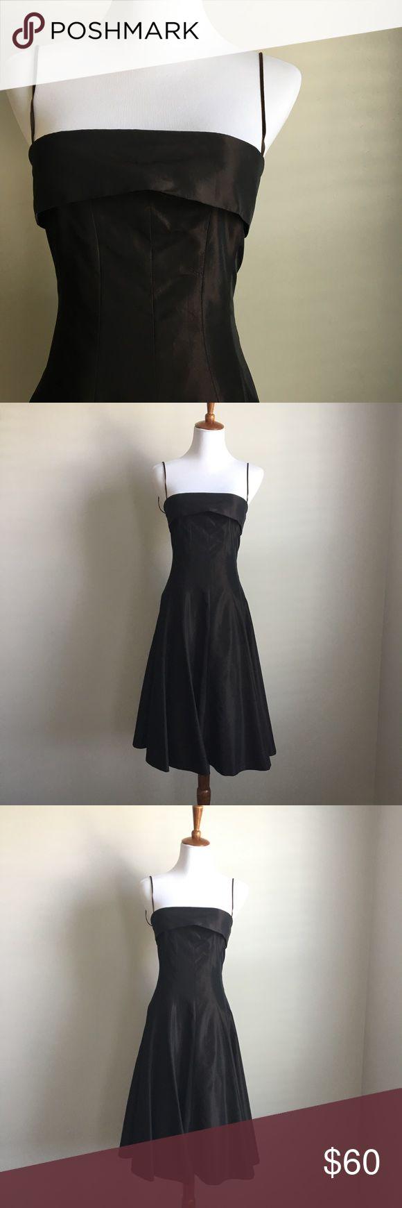 🎒WKND SALE🎒 NWOT Zara Dress Beautiful A line Dress. Espresso dress. Never used. Zara Dresses Midi
