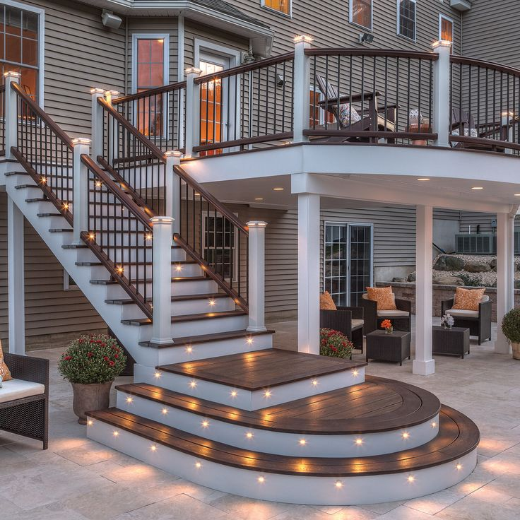Chic Bamboo Fencing In Patio EANF With Patio Under Deck Next To Deck  Lighting Alongside Deck Stairs And Deck Color | Home Ideas | Pinterest |  Deck Colors, ...