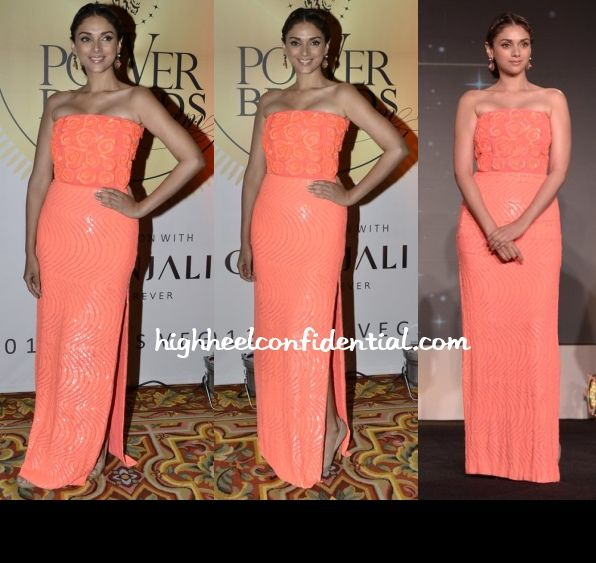 Aditi Rao Hydari in Namrata Joshipura. love the neon