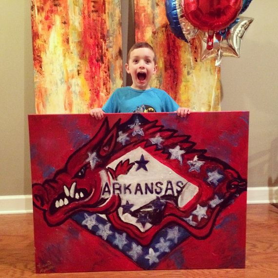 Arkansas Razorback Art by LaurenMeredithArt on Etsy, $500.00
