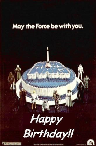 18 Best Images About Star Wars Birthday Greetings On