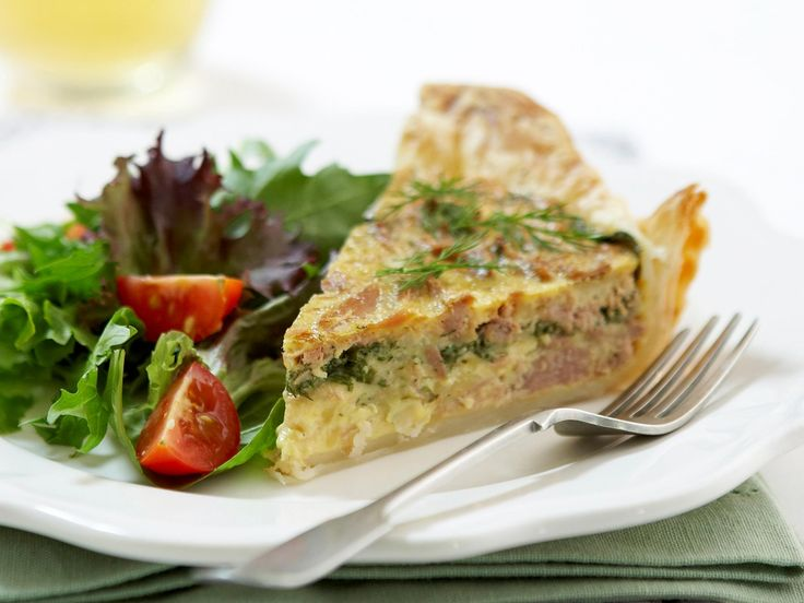 Tuna and spinach quiche, tuna recipe, brought to you by Woman's Day #Breakfast #Egg #ModernAustralian #Tuna