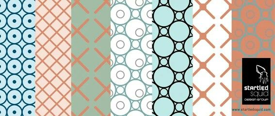 """""""The Vintage Collection""""  Vector patterns by Startled Squid Design Group www.startledsquid.com"""