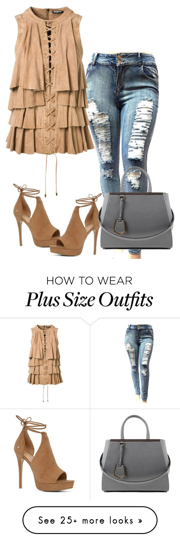 """""""Untitled #6409"""" by tailichuns on Polyvore featuring Balmain, ALDO and Fendi"""
