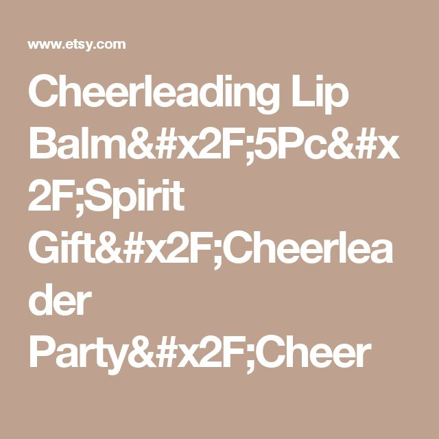 Cheerleading Lip Balm/5Pc/Spirit Gift/Cheerleader Party/Cheer