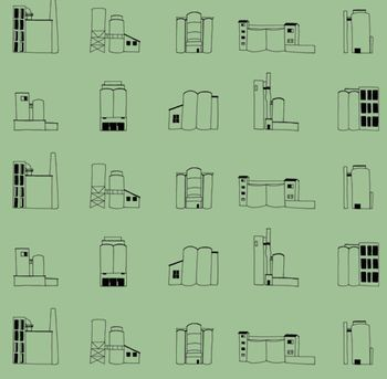 Cement Works Wallpaper from Baines & Fricker