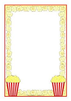 Popcorn writing paper