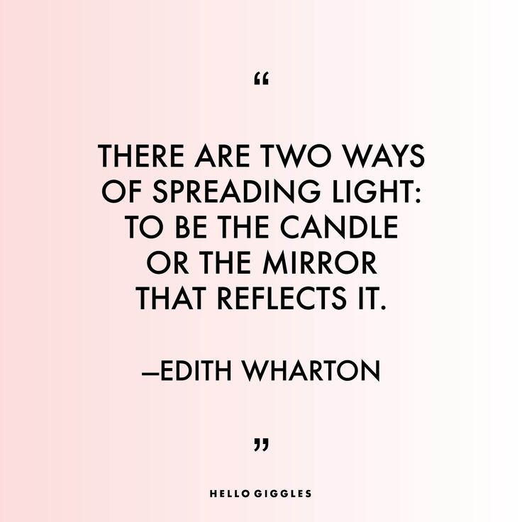 Thank you, Edith Wharton.