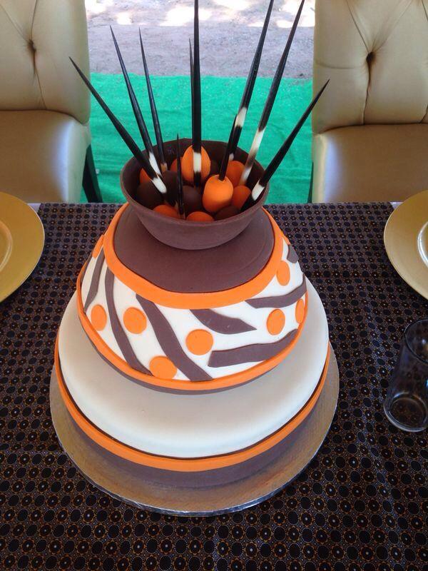 Ethnic/Traditional Wedding Cake #nubianbride #blackweddings #southafricanweddings