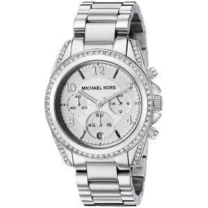 Michael Kors Ladies Silver Blair Watch