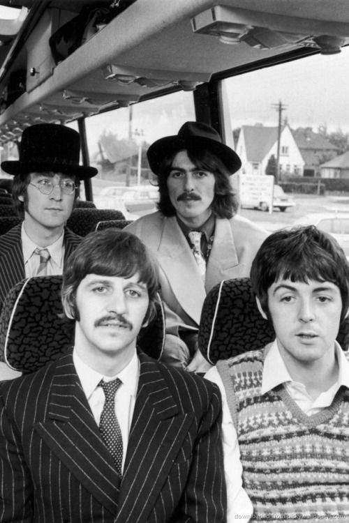 ♡♥The Beatles on the Magical Mystery tour bus in 1967 movie♥♡