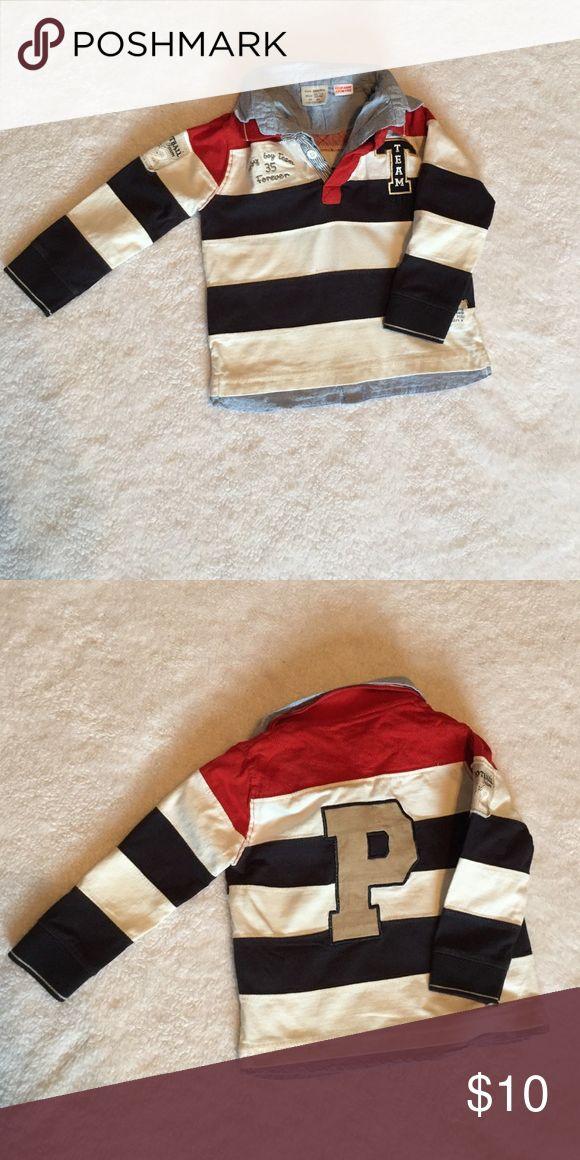 Zara Kids Rugby Long Sleeve Shirt Boys Striped Long Sleeve Rugby Shirt Zara Shirts & Tops Polos