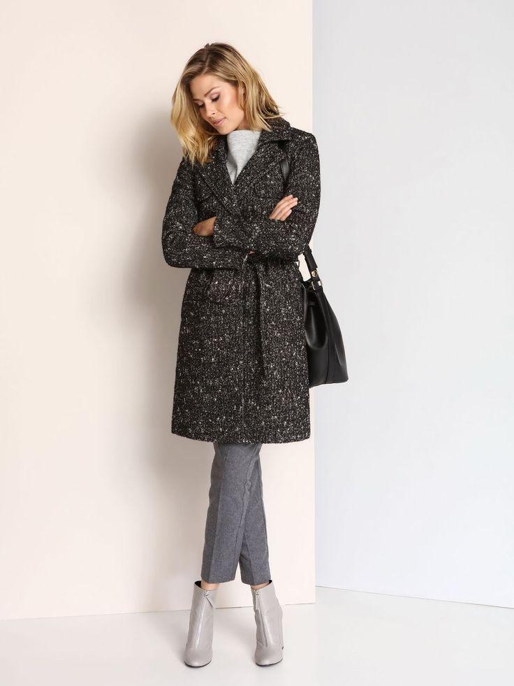 Palton Top Secret SPZ0339 Black
