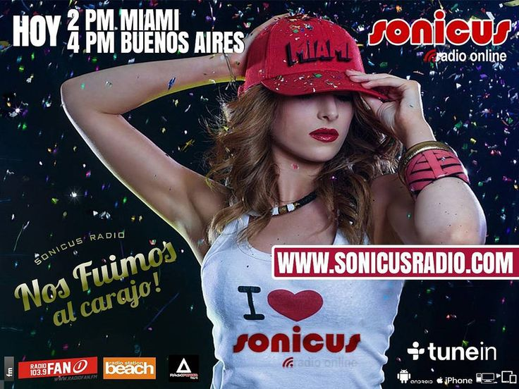 Ya llegamos!! veni a vivir  el ultimo viernes en la Radio!! www.sonicusradio.com #radio #online #music #musica #pop #hits #top  #followme #miami #latinos #hot #party #trendy #artistas #ranking #chart #show  #fashiongram #musicislife #ilovemusic #losangeles #newyork #celebrity  #dominicana #argentina  #tunein #friday