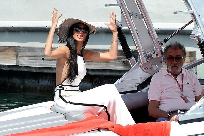 Nicole Scherzinger of the Pussycat Dolls, girlfriend of Lewis Hamilton of Great Britain and McLaren Mercedes departs by motor launch before the Monaco Formula One Grand Prix at the Circuit de Monaco on May 27, 2012 in Monte Carlo, Monaco. (Photo by Gareth Cattermole/Getty Images)