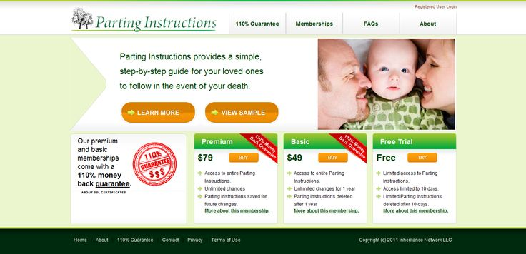 Parting Instructions is an online tool that provides simple step-by-guide for you to organize all your personal information & instructions for your loved ones to follow in the event of your death. The system is integrated with Authorize.net payment gateway and is built on MVC pattern using PHP/mySQL  Link:  http://www.partinginstructions.com
