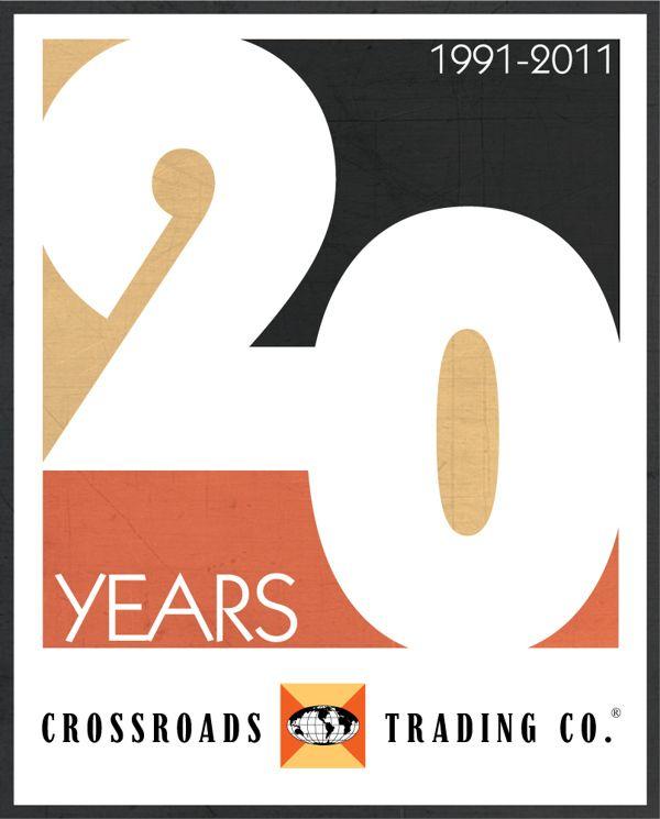 藝文 Crossroads Trading Co. - 20th Anniversary Logo Contest on Behance