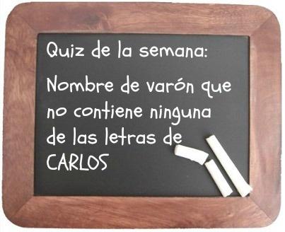 ¿Preparados para el Quiz de la semana?   ¡Venga que este es fácil! :)  Un detalle: Tiene que ser un nombre de origen latino.