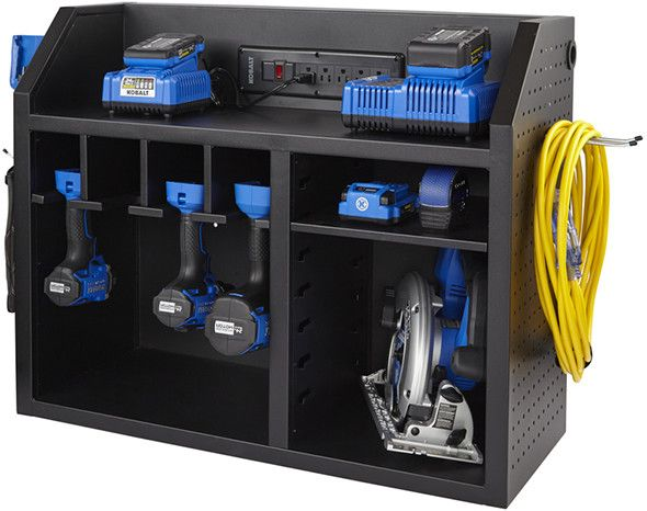 Kobalt Charging Station with French Cleat Mount with Tools
