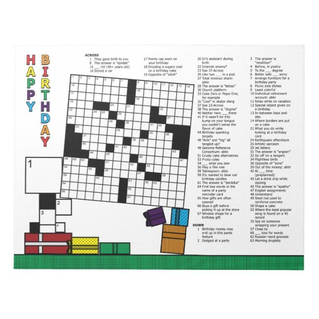 Create Your Own Notepad Zazzle Com Printable Crossword Puzzles Custom Notepad Note Pad