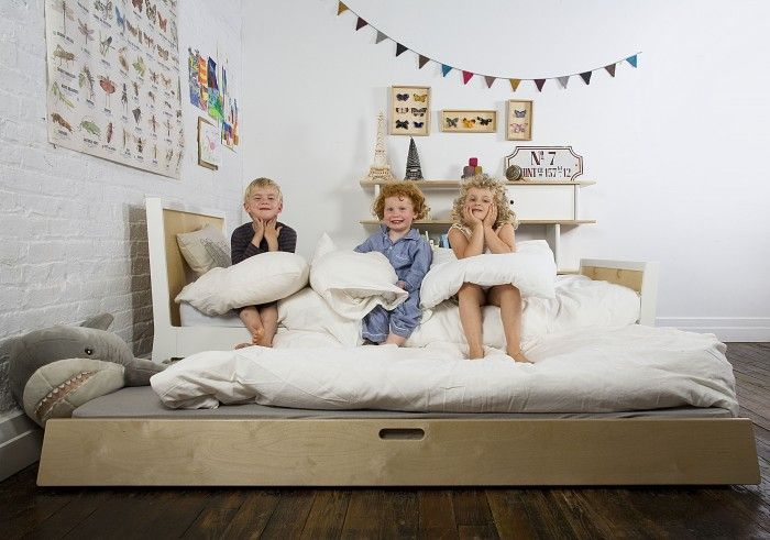 Oeuf NYC Sparrow Bed in White- Lovely range of Oeuf NYC Furniture online at Nubie | Nubie - Modern Baby Boutique