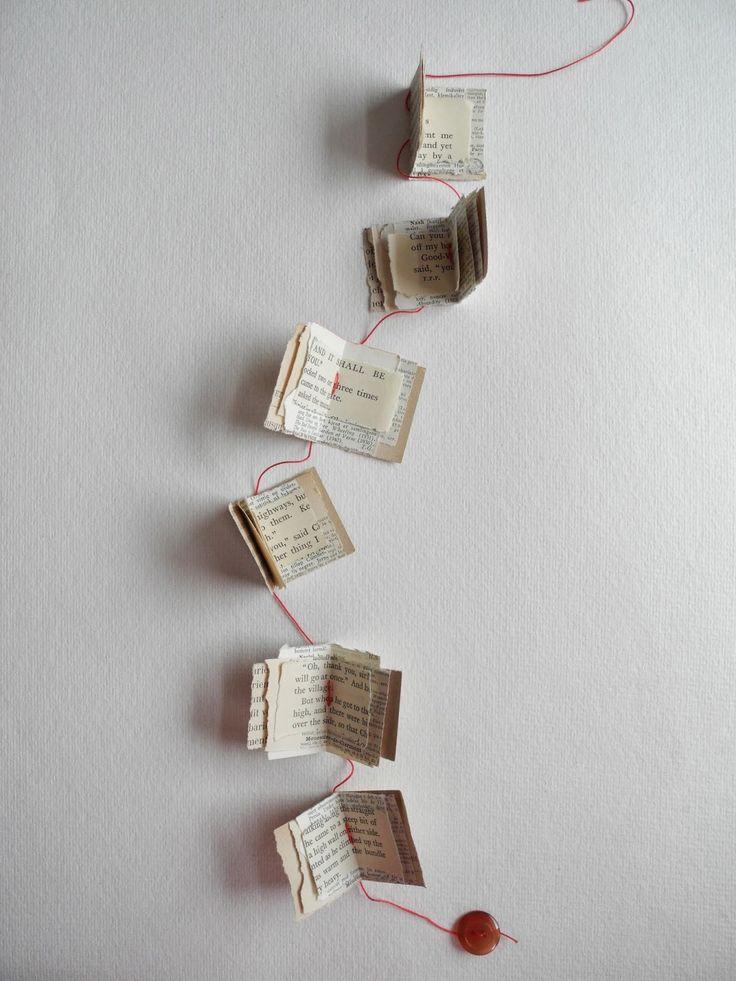 tiny books garland, paper garland, One Bunting Away