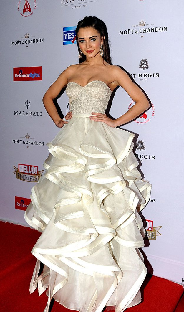 Amy Jackson | 12 Celebrities Who Dressed To The Nines For The Hello! Hall Of Fame Awards