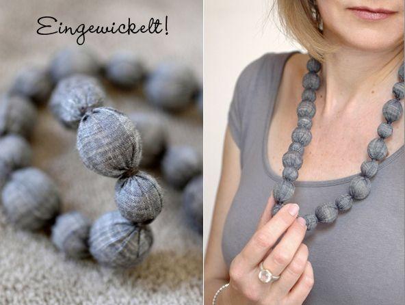 halsband tips ide tyg diy pyssel smyckestillverkning pärlor