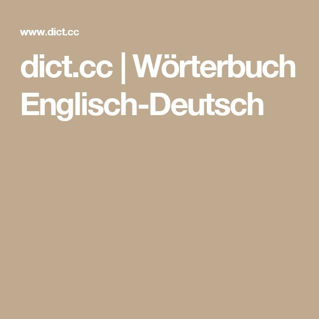 dict.cc | Wörterbuch Englisch-Deutsch